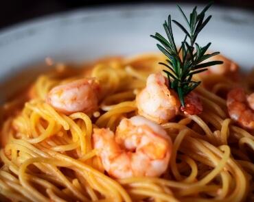 Pasta spaghetti gamberi